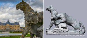 Travaux de numérisation 3D sur les « tigres », oeuvre de Georges Gardet (19e siècle).