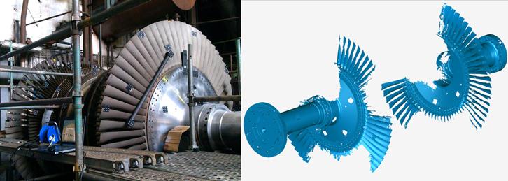 Gas Turbine Blades 3D Scan by Creaform