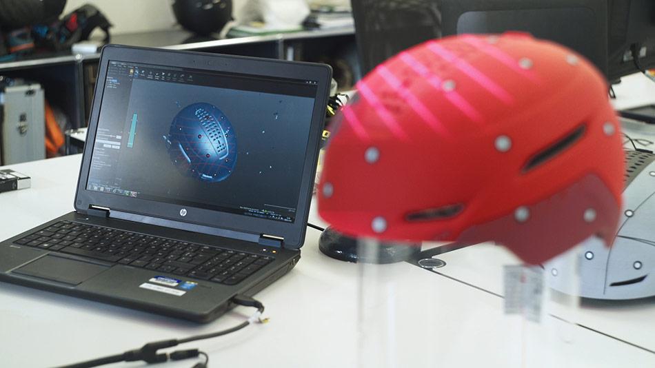 SCOTT Sports helmet design with Creaform 3D scanner