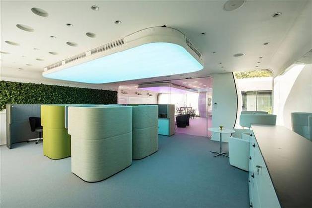 Architecture, Interior design of first 3D printed building at Dubai