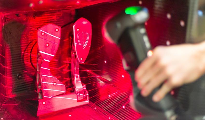 The HandySCAN 3D laser scanner at work