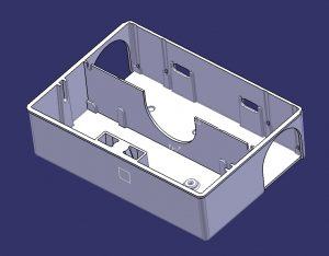 White CAD representation of mousetrap