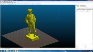 Modelo 3D de uma estátua de um garoto