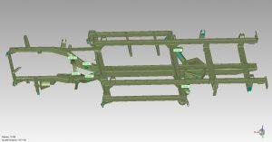 Green 3D model in CAD