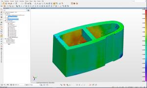 Green CAD 3D model of a filler cross section