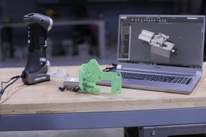 New part designed thanks to 3D scanning