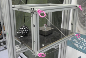 Cable-driven parallel robot effector