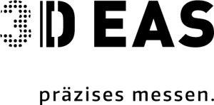 Black logo of 3D-EAS prazises messen
