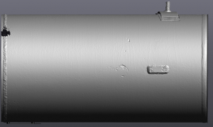 Grey scan of a gas distribution pipeline taken with Go!SCAN 3D scanner