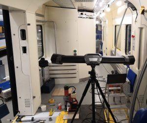 C-Track 3D measurements capture inside the cabin