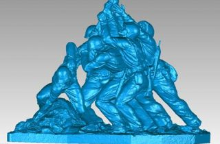 US Marine Memorial Scan 3D