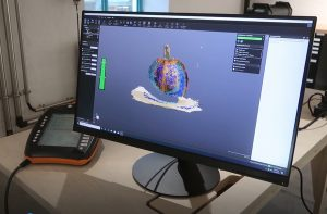 Screenshot of pumpkin 3D scan