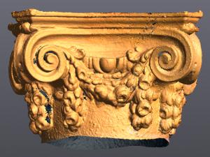 Yellow 3D rendering of top of column