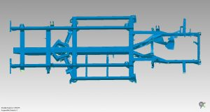 Blue 3D scan model