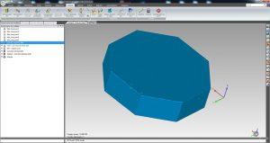Scan 3D d'un bloc rocheux octogonal