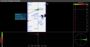 Screenshot of Pipecheck software showing gas pipeline features analysis