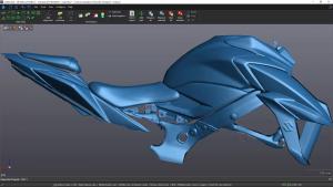 Moto part blue mesh screenshot
