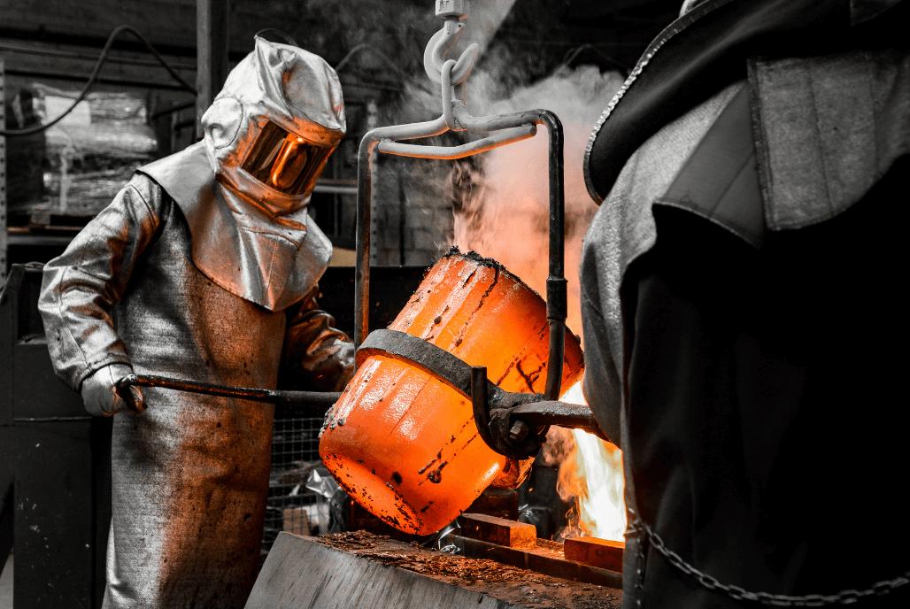 Controllo qualità delle componenti di fonderia