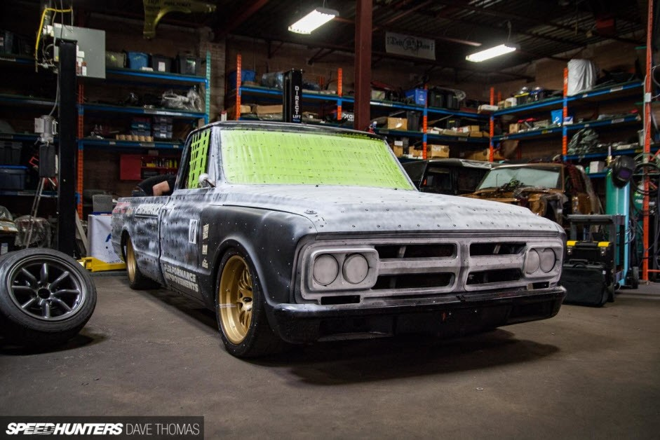 Targa Truck ready to be 3D scanned