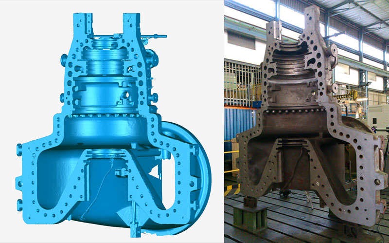 Siemens Turbine Casing 3D Scan by Creaform