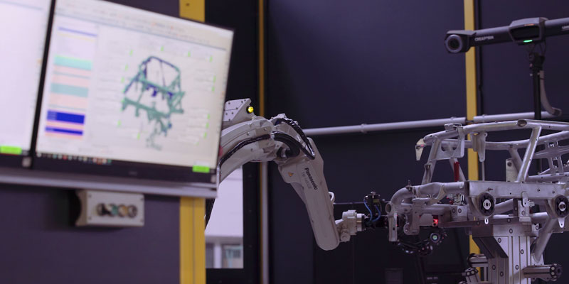 Credit: Walter Automobiltechnick: Real-time 3D measurement data analyses of a motorcycle frame
