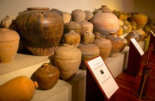 Artifact pots display at the National Museum of the Philippines in Manilla