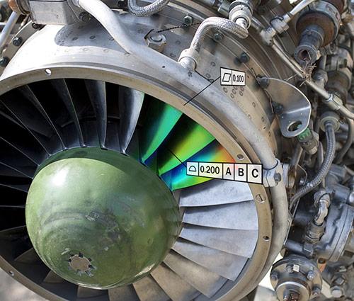Tolerance inspection on an aerospace turbine