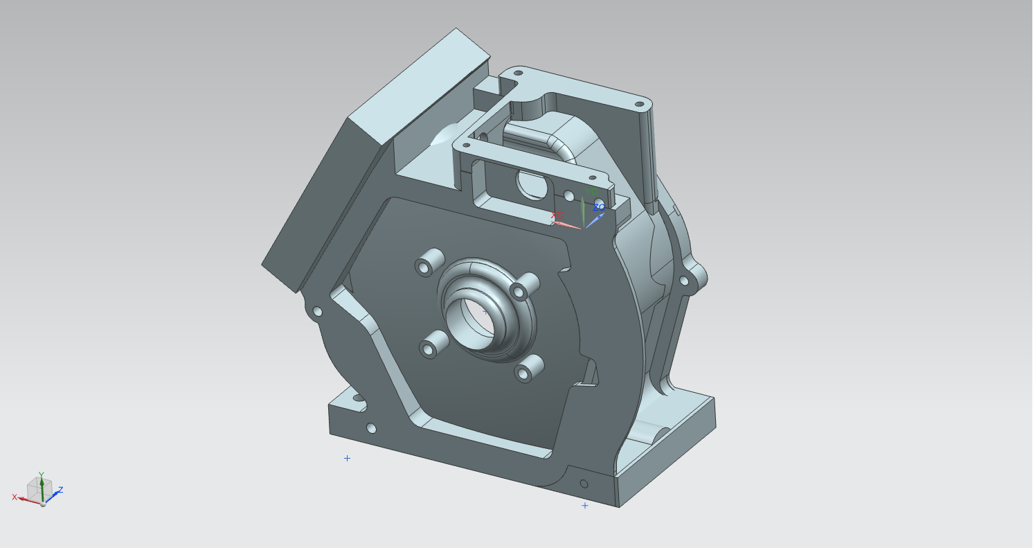 The engine base 3D model