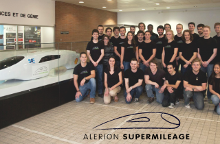 Engineering Student with Alérion Supermileage racing prototype