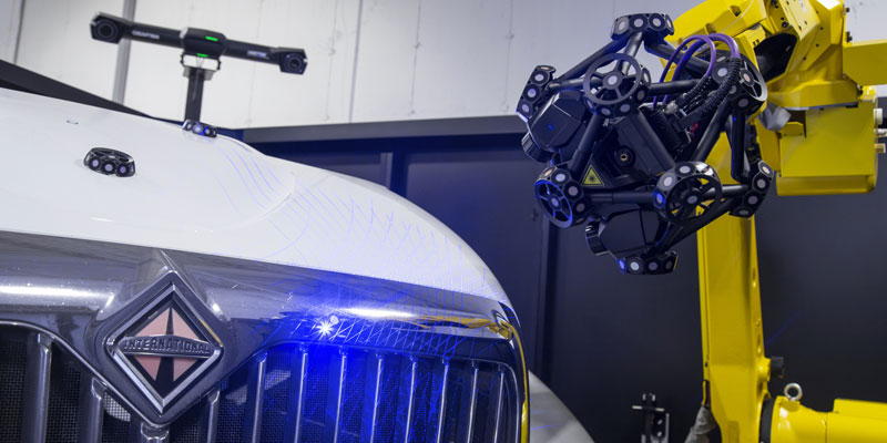 Truck hood inspection using the CUBE-R automated quality control solution