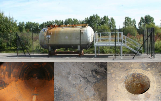 A project about measuing corrosion in a cylindrical vessel