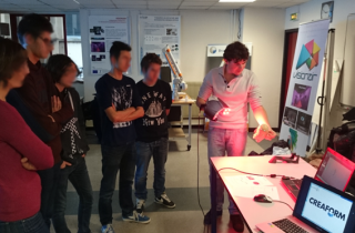 Grenoble INP Students trained with the 3D scanner HandySCAN 3D
