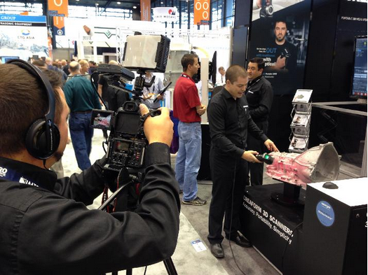 Creaform's HandySCAN 3D Scanner at IMTS 2014 in Chicago, IL.