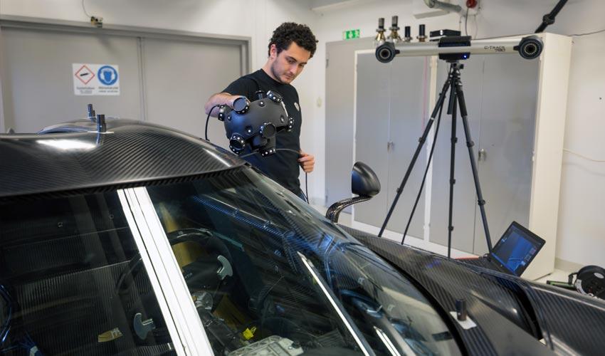 Scanning a Koenigsegg Regera