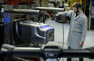 MetraSCAN - numérisation de moules industriels