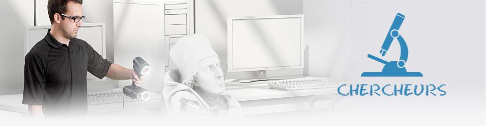 Les chercheurs et la mesure 3D portable