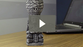 Go!SCAN 3D in action: 3D scanning of statuette