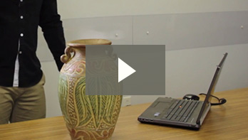 Go!SCAN 3D in action: 3D scanning of ancient vase