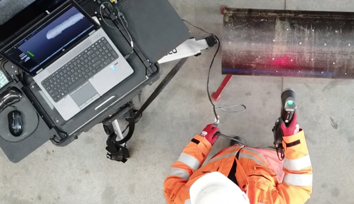 Non-destructive testing for oil and gas