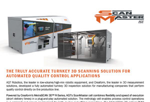 The truly accurate Turnkey 3D scanning solution for automated Quality Control applications