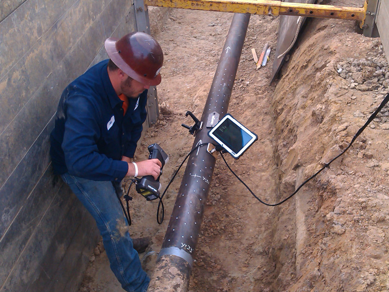 NDT pipeline inspection for Oil and Gas industry