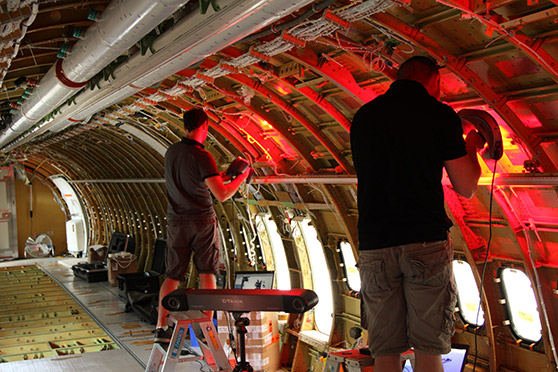 Engineering an aircrafts' interior – From a scan to a 3D model