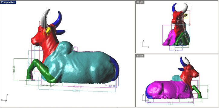 How does 3D scanning work in creating religious artefacts?