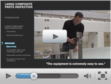 Inspecting large composite parts with the HandyPROBE portable CMM