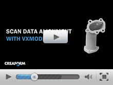 Scan data alignment with VXmodel