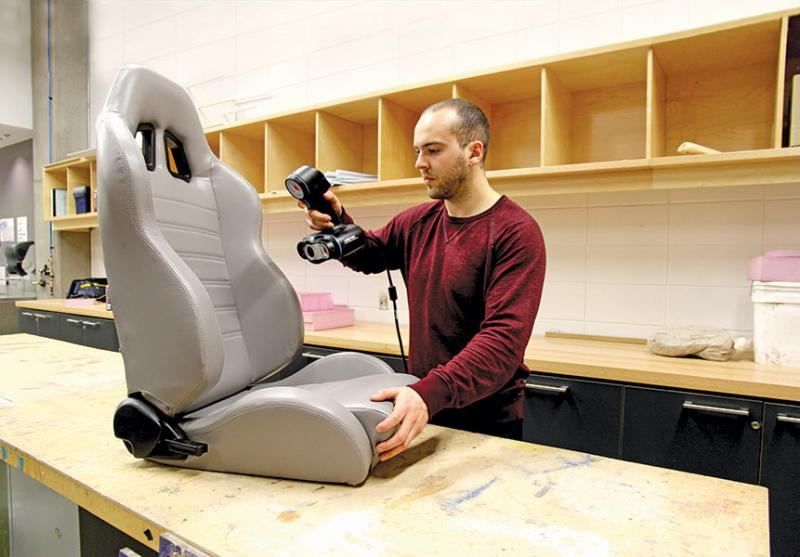 Go!SCAN3D - scanning - car seat