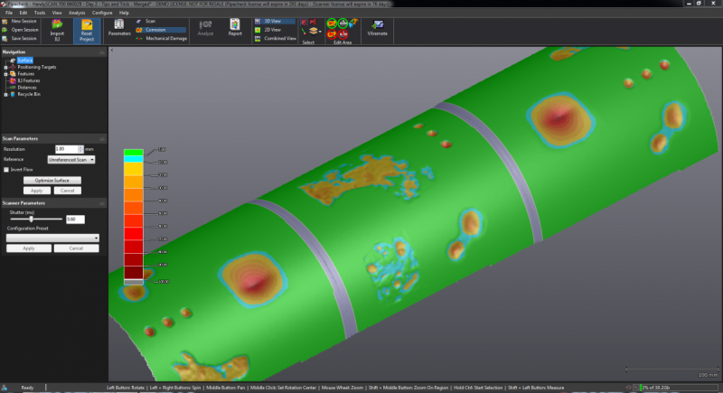 Pipecheck Corrosion Software Module For Ndt Creaform
