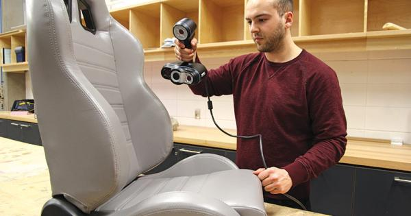 Go!SCAN 3D - Car Seat 3D ScanningGo!SCAN 3D - Car Seat 3D Scanning