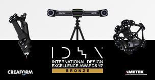 Creaform wins bronze at Industrial Design Excellence Award 2017 by the Industrial Design Society of America