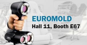 Der 3D-Weißlichtscanner Go!SCAN 3D auf der EuroMold